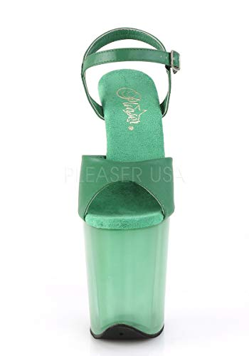 Flamingo 809t Pleaser Green Faux Leather frosted awR1q6dOcw