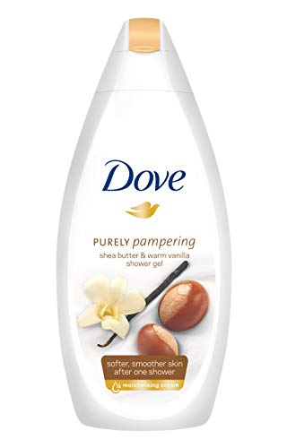 Dove Purely Pampering Body Wash, Shea Butter with Warm Vanilla, 16.9 Ounce/500 Ml (Pack of 4)