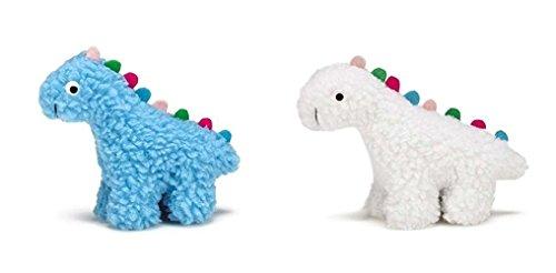 Grriggles Fresh Water Berber Small Dino Dog Toy 5-Item Bundle (Blue)