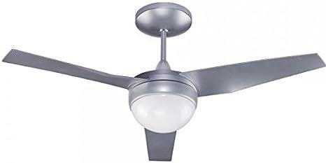 Wonderlamp Classic, Ventilador de Techo con Luz E27, 13 W, Gris/Blanco, 107 x 107 x 34.2 cm: Amazon.es: Iluminación