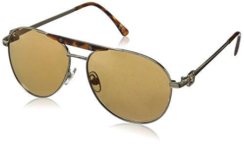 Foster Grant Women's Coast 6 Aviator Sunglasses, Gold, 58.5 - Mirroed Sunglasses