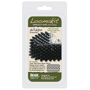 BeadSmith Loomakit Wizzo Complete Bracelet Cuff Kit for Rick's Beading Loom