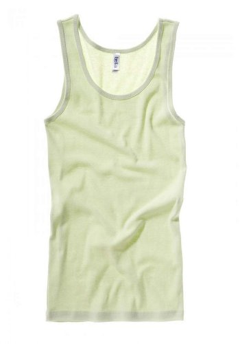 Bella Ladies Wide straps Self - binding on Neck and Armholes Rib Tank - Lime Wedge - X-Large