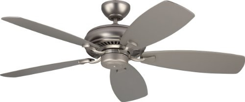 Monte Carlo 5LCM52BP Protruding Mount, 5 Silver Blades Ceiling fan, Brushed Pewter from Monte Carlo