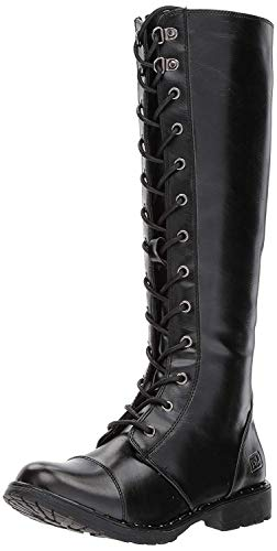 Black Knee High Lace Up Boots (Dirty Laundry by Chinese Laundry Women's Roset Combat Boot, Black Smooth,  7.5 M)