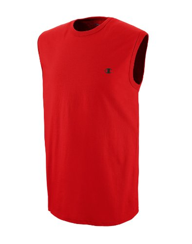 Champion Men's Jersey Muscle T-Shirt, Crimson, XX-Large