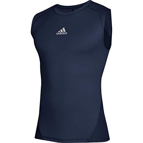 (adidas Alphaskin Sport Sleeveless Tee (Large, Navy) )