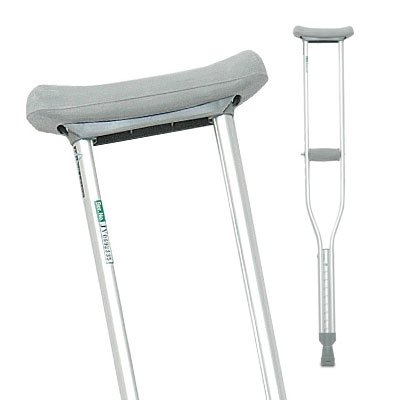 Aluminum Crutches, Adult - Carton of 8