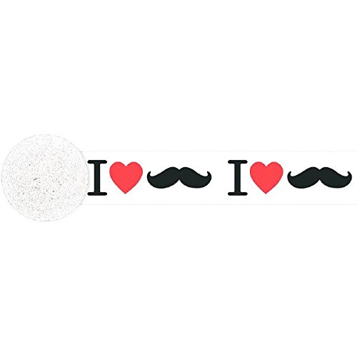 mustache party streamer - 3