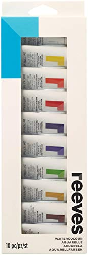 (Reeves 8493257 Assorted Colors Reeves Water Colour Paints44; 22ml - 10 per Pack)