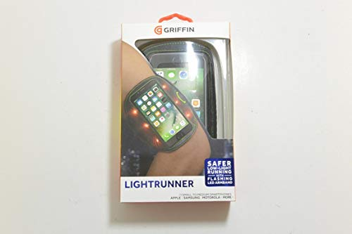 - Griffin LightRunner Flashing ArmBand for Phones up to 5.5 inch - Black / Green
