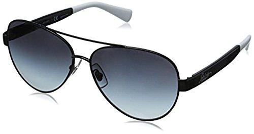 Ralph by Ralph Lauren Women's RA4114 Sunglasses Silver / Navy / Silver Mirror 58mm & Cleaning Kit - Ralph Lauren Mirror