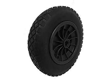 PU 40, 64 cm antipinchazos negro carretilla rueda neumático 4, 80 -8 relleno de espuma 20 mm ánima: Amazon.es: Jardín