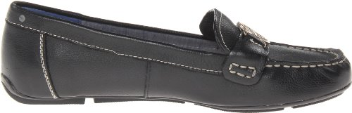 a60eb382512 Tommy Hilfiger Women s Raelyn Black Leather Loafer 7 M - Buy Online ...