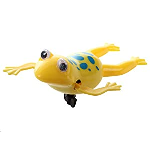 Andifany Swimming Frog Pool Bath Cute Toy Wind-Up Swim Frogs Kids Toy #1