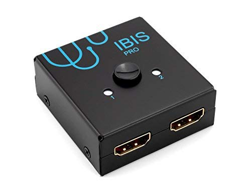 IBIS Pro 4K HDMI Bi-Directional Switch 4K 60 Hz at 4:4:4, HDCP Pass-Through (HDCP 2.2 Support), 2x1 or 1x2