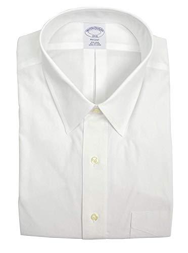 Brooks Brothers Men's Regent Fit Pocket Non Iron Dress Shirt White (15