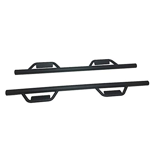 For 2007-2018 Chevy Silverado 1500/ GMC Sierra 1500 EXT Double Cab Side Steps Running Boards Nerf Bars Steel