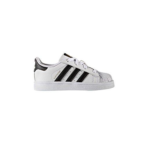 White////Black 3 Little Kid M adidas Kids Unisex Originals Superstar Shoes