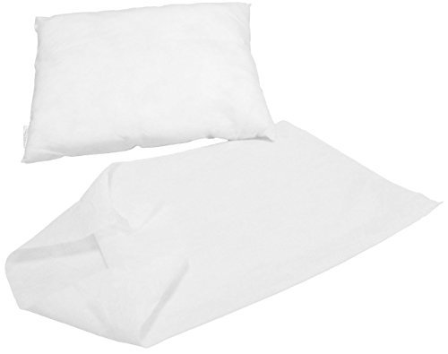 "SkinAct Disposable non woven Pillowcase 19"" x 30"", White (Pack of 40)"