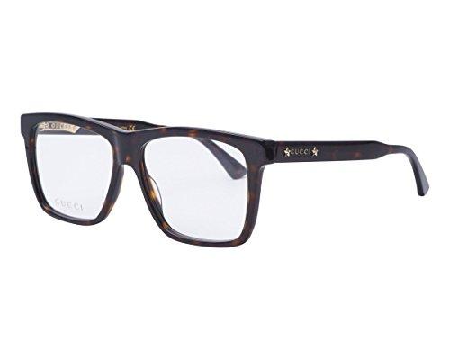 Gucci GG 0268O 002 Havana Plastic Square Eyeglasses 55mm