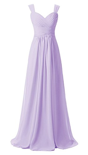 Mother Women's AN72 Long Double Evening Anlin Bridal Gown Prom Lavender Dress Chiffon Straps 1xTdP