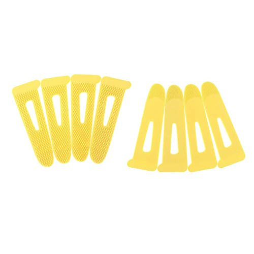 - 8Pcs Sleeve Cuff Tabs Sewing Hook Loop Tape Closure for Sportswear Shirts | Color - Yellow