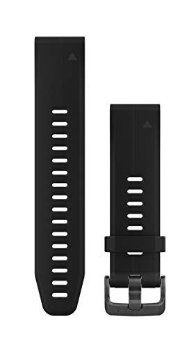 Garmin 010-12739-00 Quickfit 20 Watch Band - Black Silicone - Accessory Band for Fenix 5S Plus/Fenix 5S by Garmin