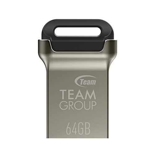TEAMGROUP C162 64GB 3 Pack USB 3.2 Gen 1 (3.1/3.0) Mini Fits Metal USB Flash Drive, External Storage Thumb Drive Memory Stick TC162364GB19