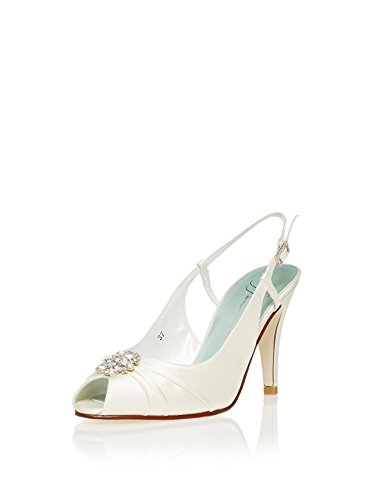 Filippa Scott Maisie II Bridal Shoes in Ivory Silk wLqEey