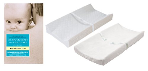 Dr. Spock's Baby and Child Care Guide with Summer Infant Contoured Changing Pad & Cover by Baby and Child Care