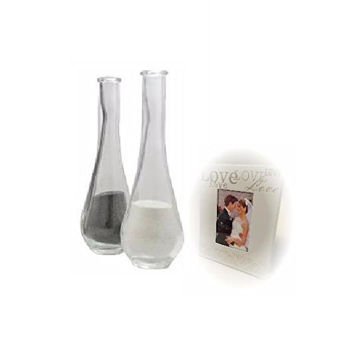 Set of 2 Extra Side Vases for the Unity Sand Ceremony Keepsake Shadow Box -