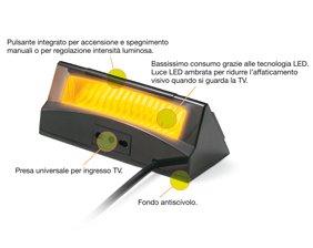 retroilluminazione Beghelli 3316 Salvalavista per TV con luce a led e telecomando