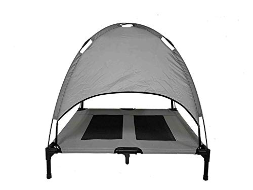 Midlee Dog Cot with Canopy Raised Pet Bed (30
