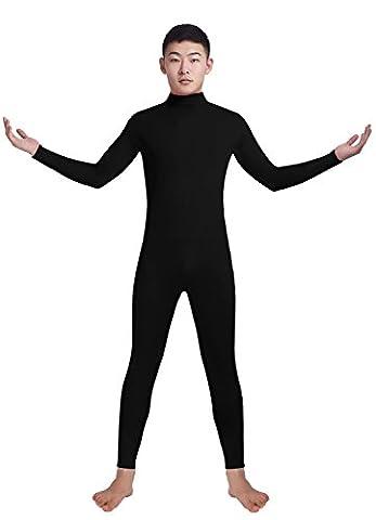 Ensnovo Adult Lycra Spandex Turtleneck Long Sleeve One Piece Unitard Bodysuit Dancewear Black, XL - Lycra Turtleneck Dress