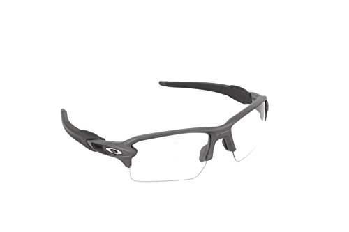 Oakley Men's OO9188 Flak 2.0 XL Rectangular Sunglasses, Steel/Clear To Black Photochromic, 59 ()