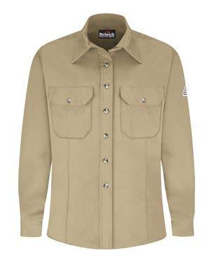 (Bulwark Women's Dress Uniform Shirt - EXCEL FR ComforTouch 2XL Khaki)