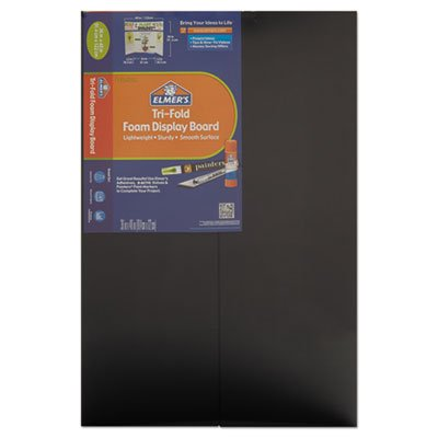 Cfc-Free Polystyrene Foam Premium Display Board, 36 X 48, Black, 12/carton By: Elmer's by Office Realm