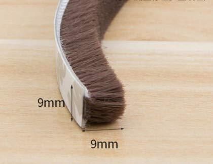 5Meters Seal Strip Door Seal Draught Excluder Window Pile Seal Film Door Brush Swal Weather Strip Door Window Sound Insulation Gray 9mmx23mm