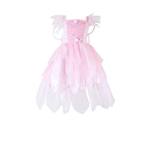 (JasonParty Fairy Dresses for Girls Butterfly Fairy Wing Dress Up Party Costume Bridesmaids Wedding Gown Pink)