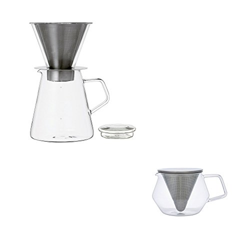 KINTO-CARAT-coffee-dripper-pot-and-teapot-850ml-Set-of-2