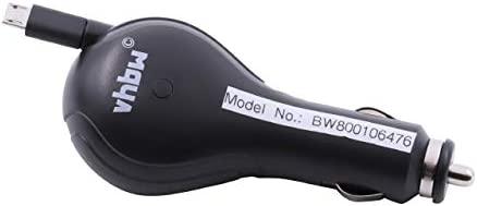 vhbw Cable Cargador para Coche 5W (5V/1A) con Micro-USB ...