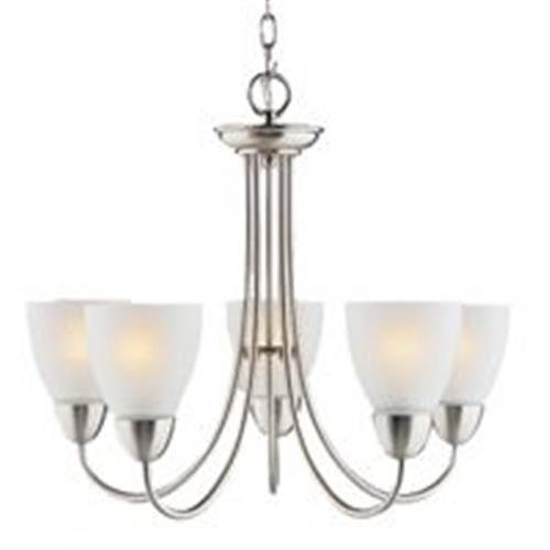 Boston Harbor A2242-6 5-Light Chandelier, Brush Nickel (Chandelier Light Brush)