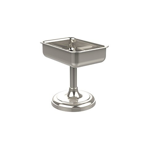 - Allied Brass S-56-PNI Vanity Top Soap Dish, Polished Nickel