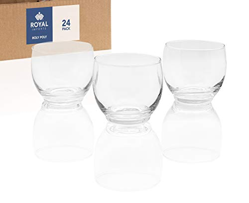 (Royal Imports Candle Holder Glass Votive for Wedding, Birthday, Holiday & Home Decoration, Roly Poly, Set of 24 - Unfilled)