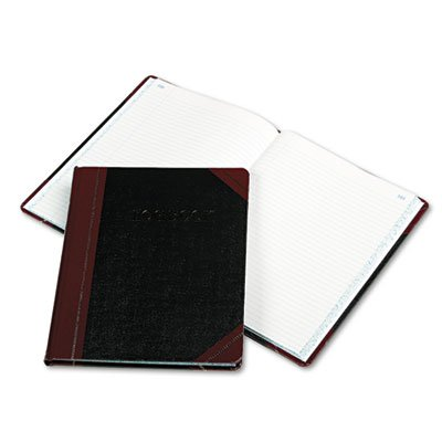 Log Book, Record Rule, Black/Red Cover, 150 Pages, 10 3/8 x 8 1/8, Sold as 1 Each