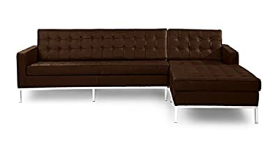 Kardiel Florence Knoll Style Sofa Sectional Right, Full Leather