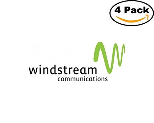 Technolgy Windstream Logo 4 Stickers 4X4 Inches Car Bumper Window Sticker Decal