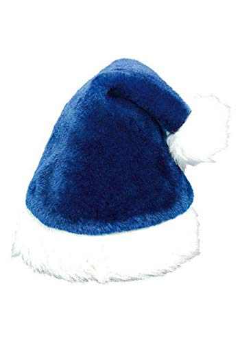 (Plush Blue Santa Hat)