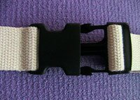 All Cotton Side Release Buckle Yoga Strap 8 Foot Natural